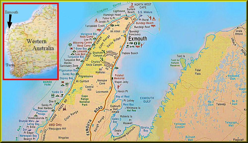ningaloo map