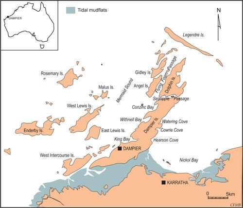dampier archipelago map